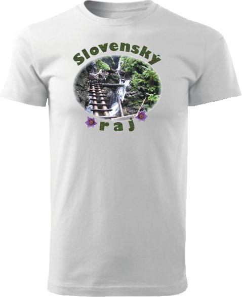 Tričko Slovenský raj Unisex Biele