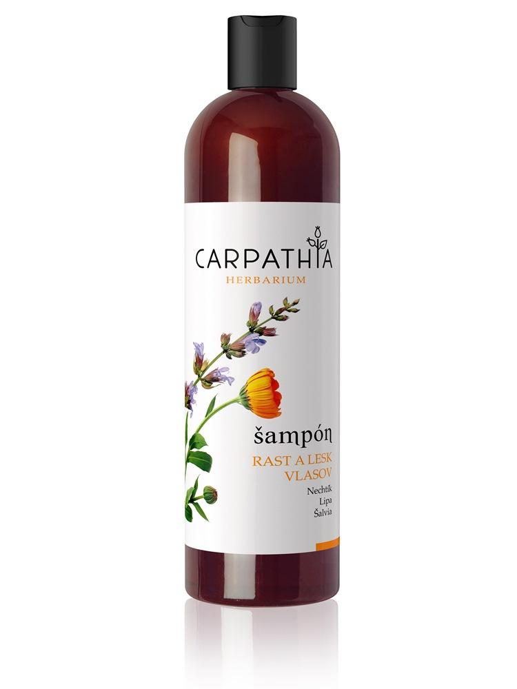 CARPATHIA Šampón na rast a lesk vlasov 350ml