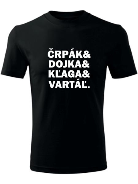 Tričko po bačovsky Unisex Čierne