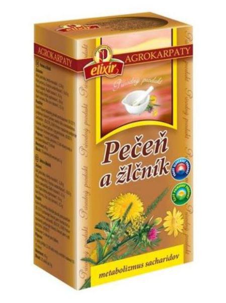 Agrokarpaty pečeň a žlčník bylinný čaj 20x2g
