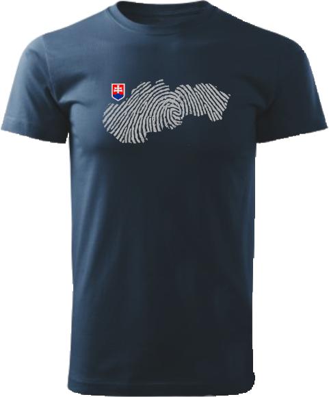 Tričko Slovensko otlačok Unisex Námornícke modré