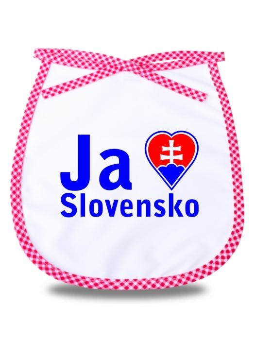 Detský podbradník milujem Slovensko Červený