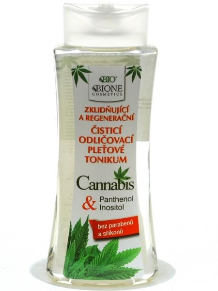 Bione Cosmetics - Odličovacie pleťové tonikum Cannabis 255 ml