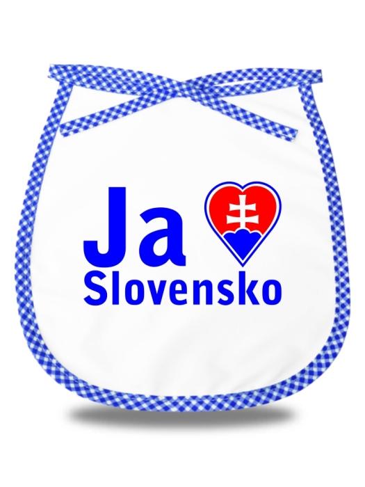 Detský podbradník milujem Slovensko Modrý