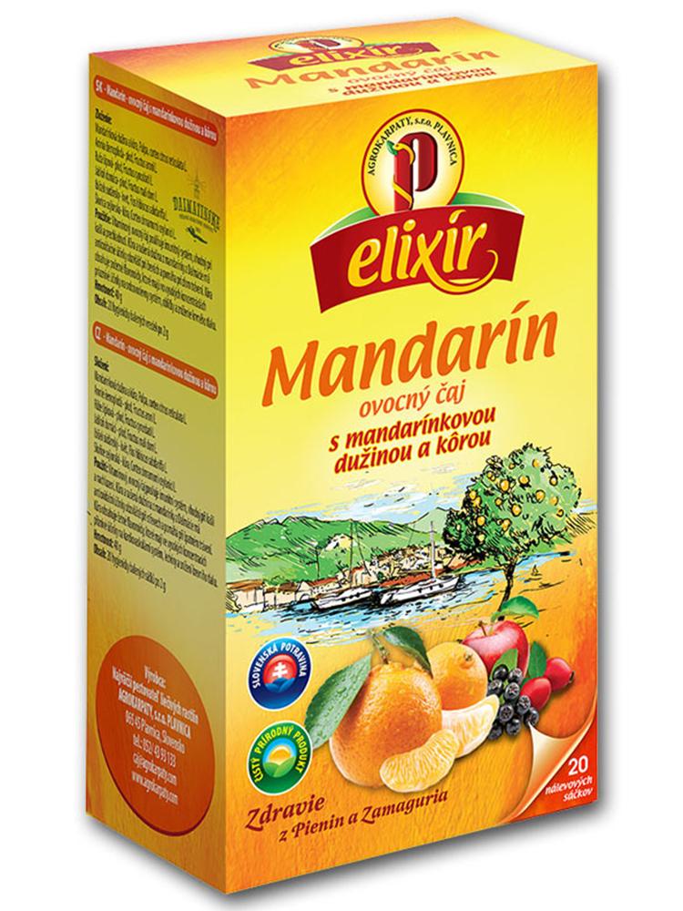 Agrokarpaty Elixír Mandarín ovocný čaj 20x2g