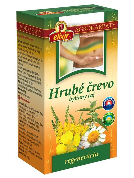 Agrokarpaty hrubé črevo bylinný čaj 20x2g