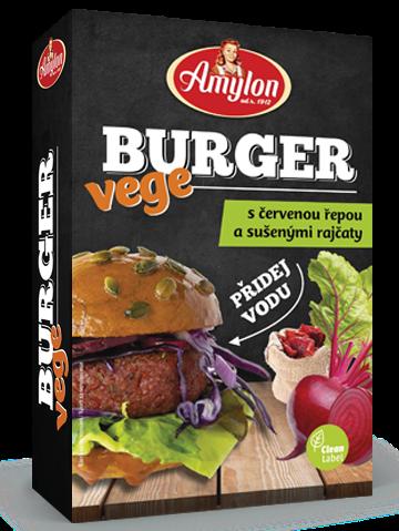 Amylon VEGE Burger s červenou repou a sušenými paradajkami 125g
