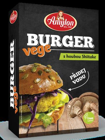 Amylon VEGE Burger s hubou Shiitake 125g