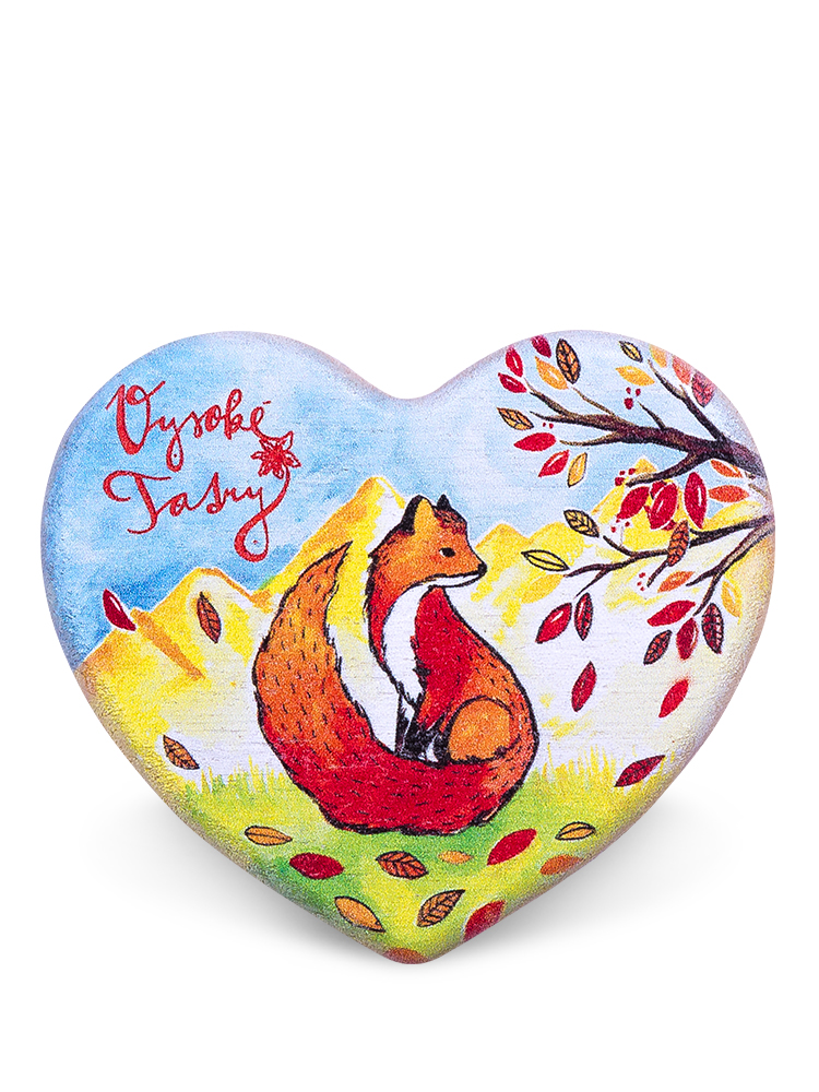 Drevená magnetka Vysoké Tatry - líška