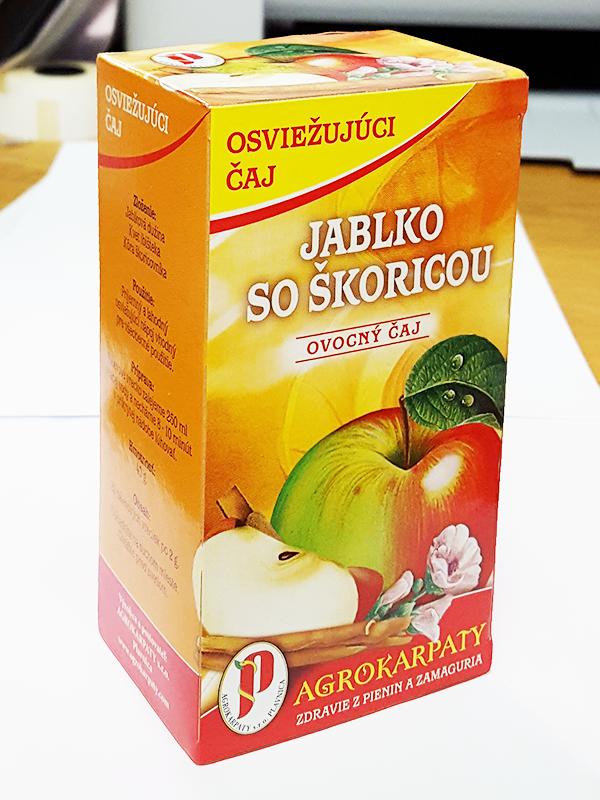 Agrokarpaty jablko so škoricou ovocný čaj 20x2g