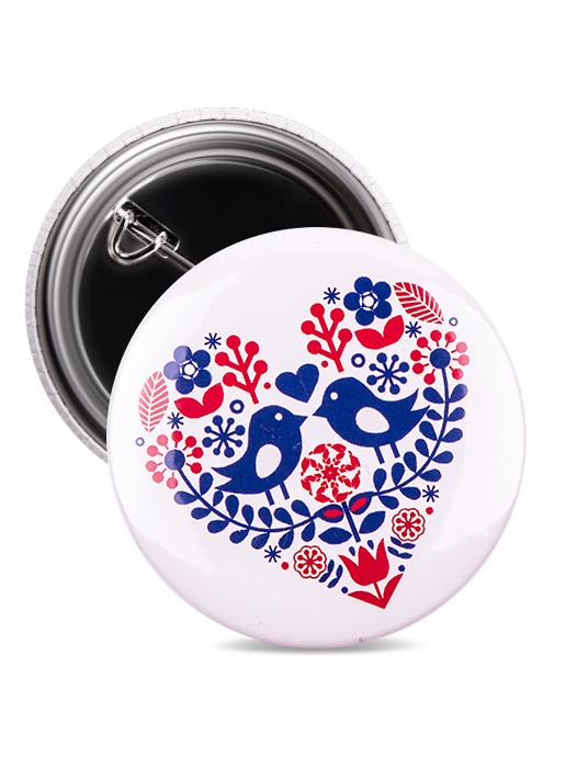 Odznak folklórne srdce modré 2