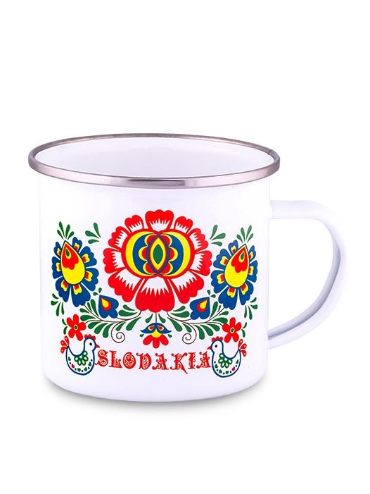 Plechový hrnček Slovakia kvet 300ml