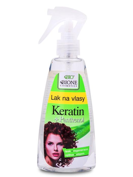 Bione Cosmetics - Lak na vlasy Keratin + Panthenol 200ml