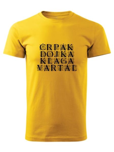 Tričko bačovský slovník Unisex Žlté