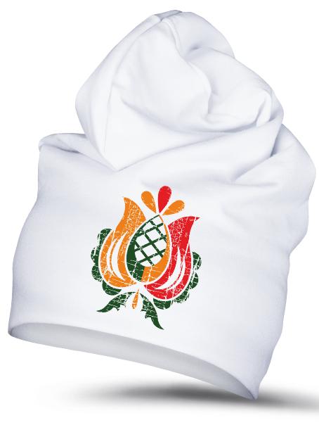 Folklórna čiapka prvosienka 1 retro Biela