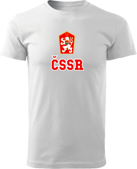 Tričko ČSSR Unisex Biele