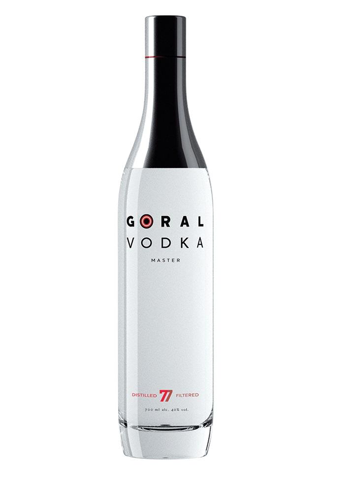 Goral MASTER VODKA 40% 0,7L + 2 poháriky