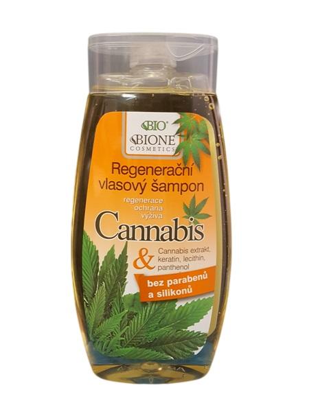 Bione Cosmetics - Regeneračný vlasový šampón Cannabis 250ml