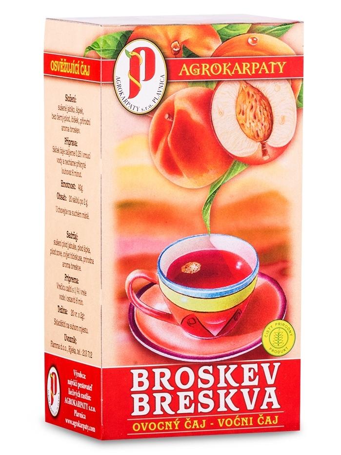 Agrokarpaty ovocný čaj broskyňa 20x2g