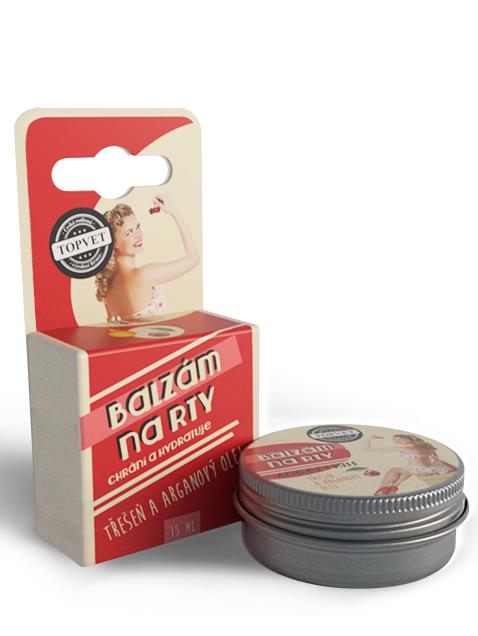 Topvet Balzam na pery - Čerešňa a arganový olej 15ml