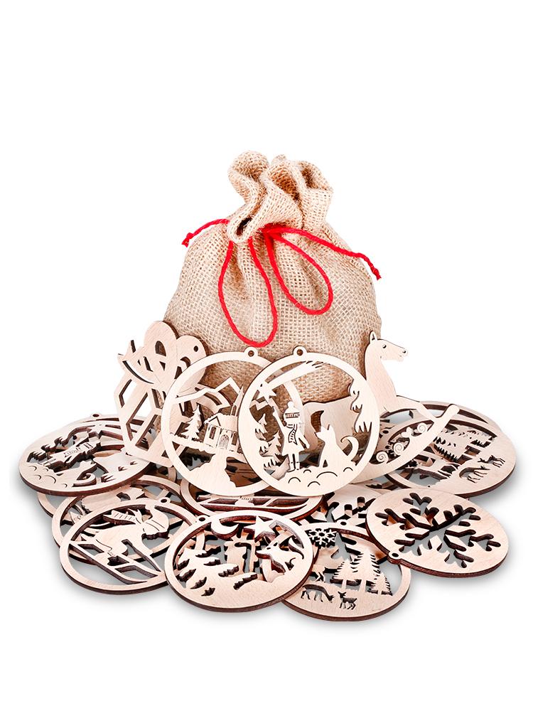 Drevené vianočné ozdoby 25ks