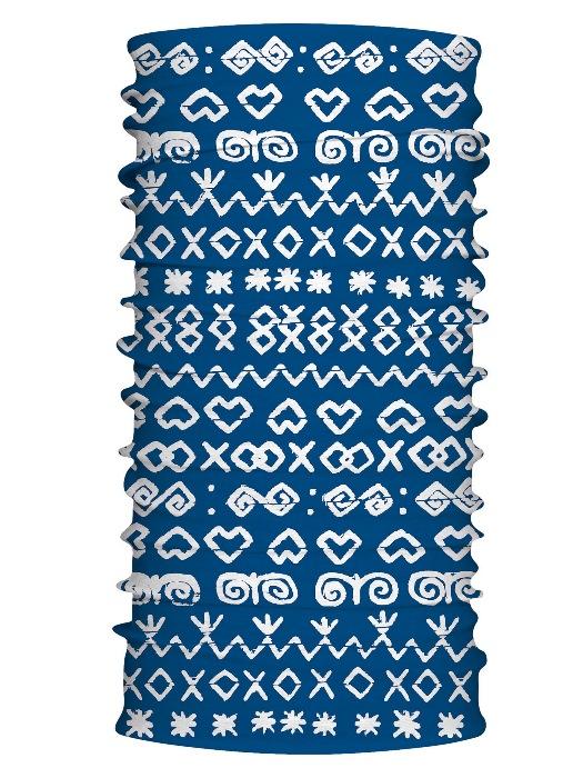 Multifunkčný šál čičmany retro modrý 7158