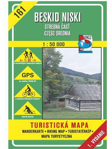 Beskid Niski - Stredná časť 161 Turistická mapa 1:50 000
