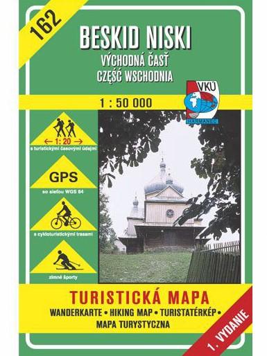 Beskid Niski - Východná časť 162 Turistická mapa 1:50 000