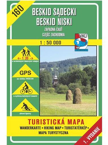 Beskid Niski - Západná časť 160 Turistická mapa 1:50 000