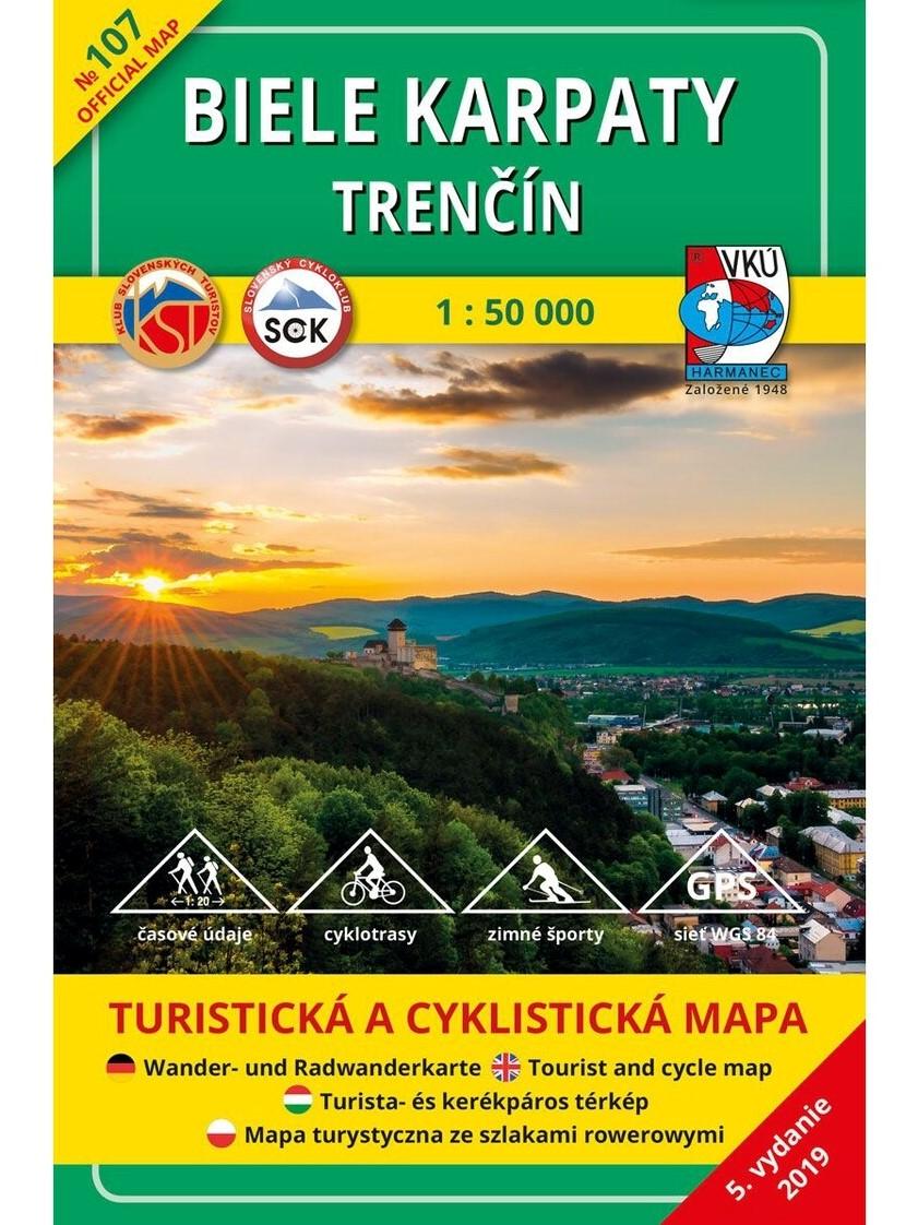 Biele Karpaty - Trenčín 107 Turistická mapa 1:50 000