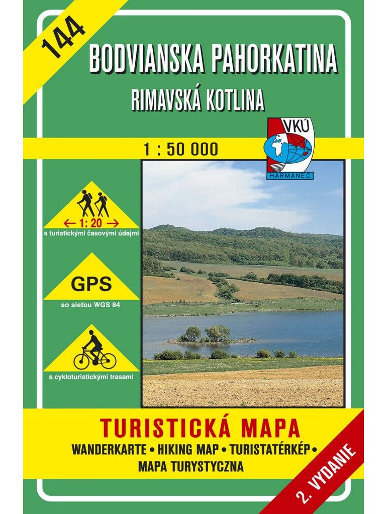 Bodvianska pahorkatina - Rimavská kotlina 144 Turistická mapa 1:50 000