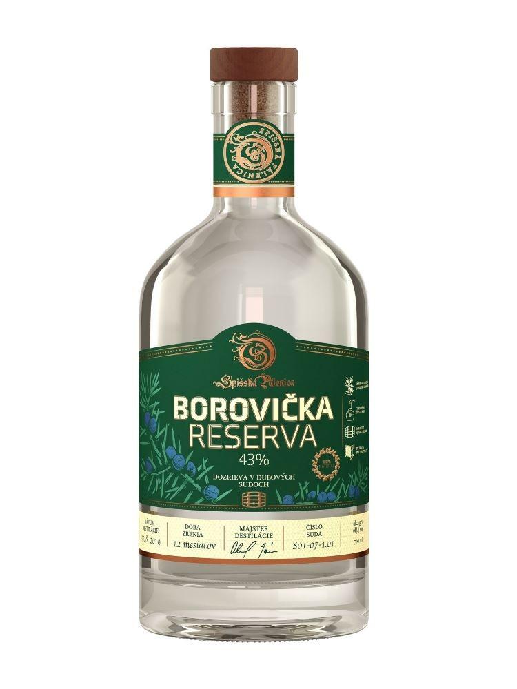 Spišská pálenica Borovička RESERVA 43% 0,7l