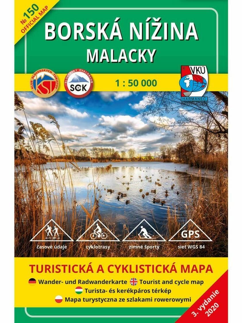 Borská nížina - Malacky 150 Turistická mapa 1:50 000