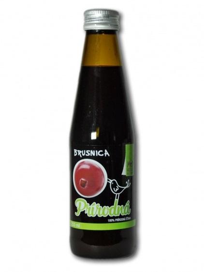 Mountberry brusnicová prírodná šťava 100% 250ml