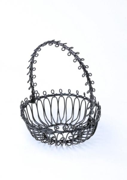 Drôtený košíček okrúhly