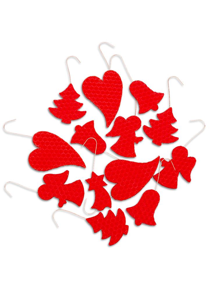 Vianočné ozdoby zo včelieho vosku červené 12ks