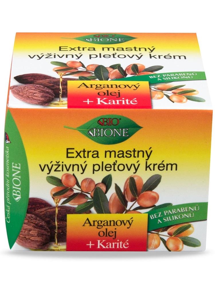 Bione Cosmetics - Extra mastný pleťový krém Arganový olej + Karité 51ml