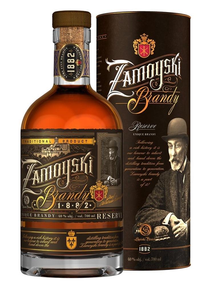 Brandy Zamoyski 40% 0,7L tuba