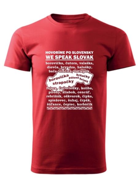 Tričko po slovensky Unisex Červené