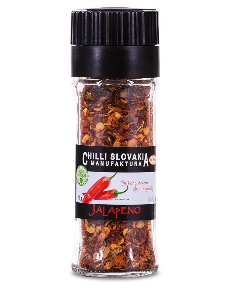 Chilli Manufaktúra Mlynček drvené chilli Jalapeňo 20g