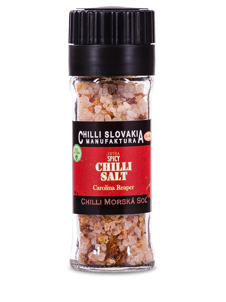 Chilli Manufaktúra Mlynček Morská soľ Carolina Reaper 80g