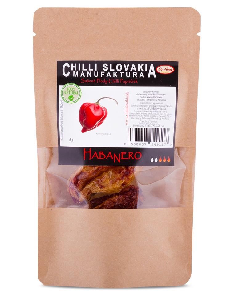 Chilli Manufaktúra Sušené chilli papričky celé Habanero 5g