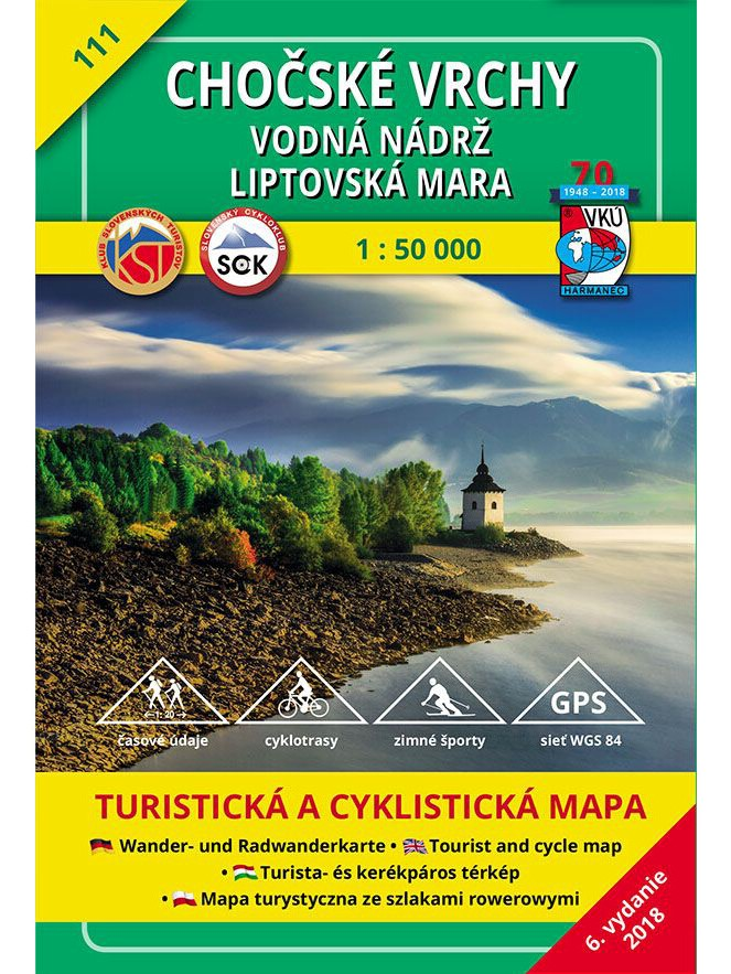 Chočské vrchy - Vodná nádrž Liptovská Mara 111 Turistická mapa 1:50 000