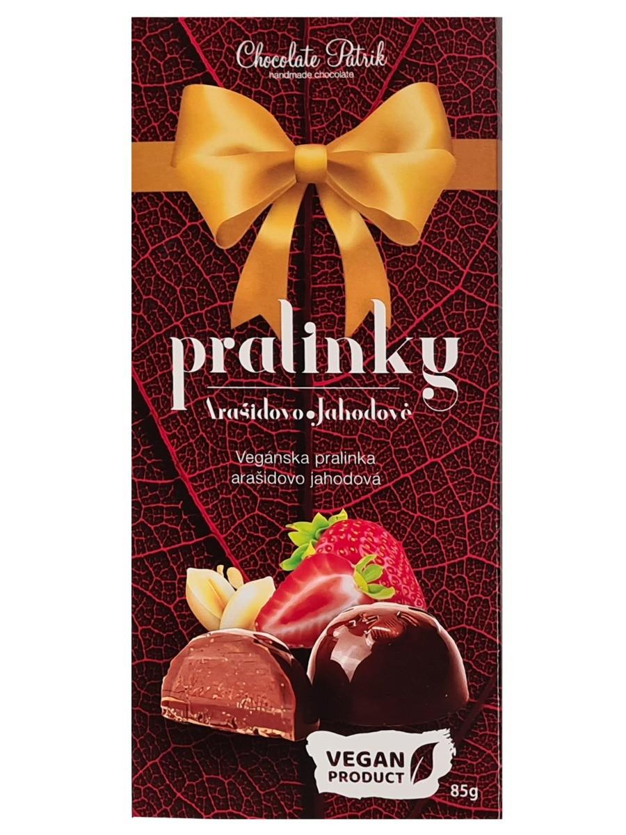 Chocolate Patrik Pralinky arašidovo-jahodové Vegan 85g