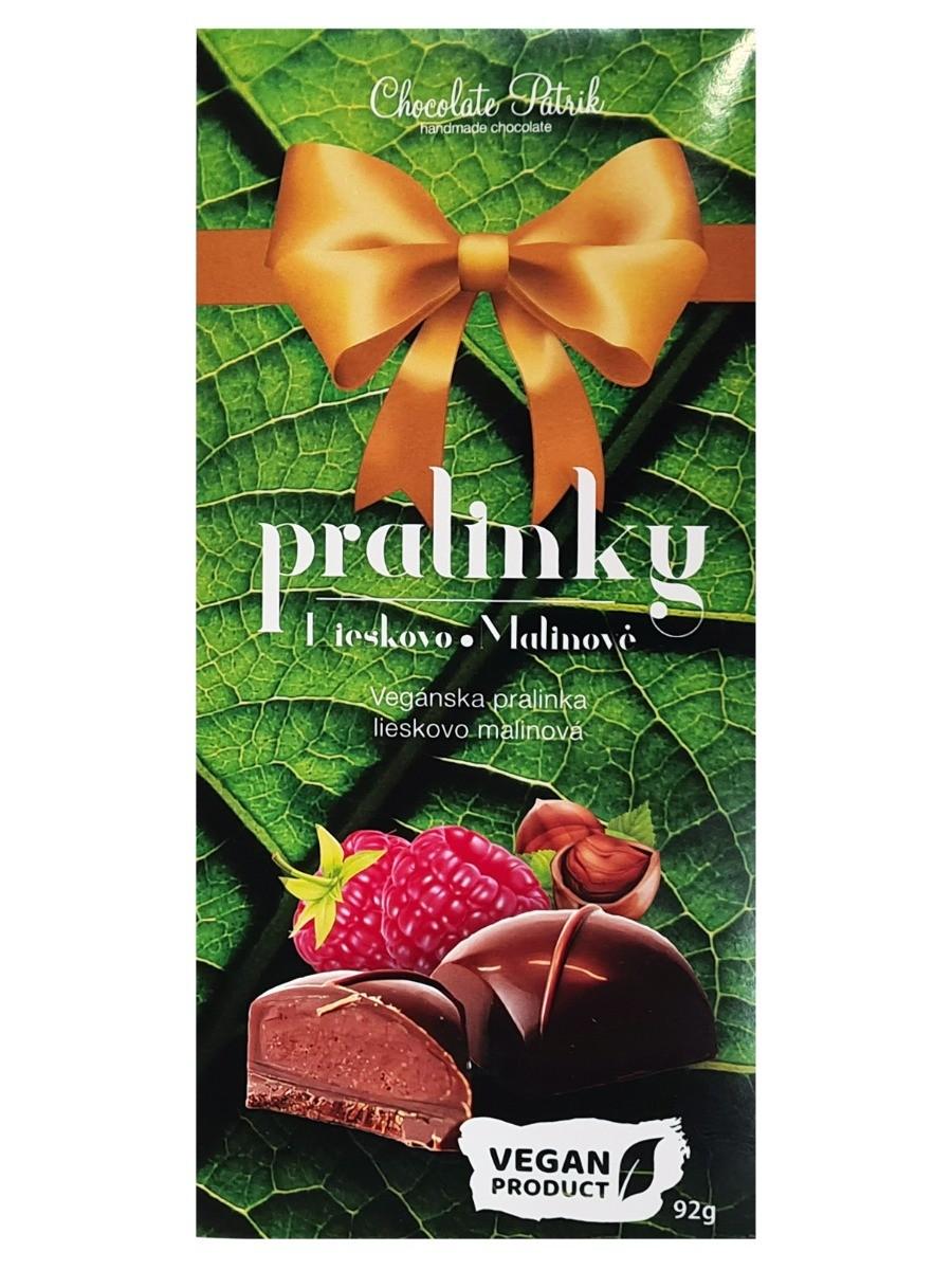 Chocolate Patrik Pralinky lieskovo-malinové Vegan 92g