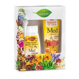 Bione Cosmetics - Darčeková kazeta MED Regeneračný vlasový šampón + Balzam na ruky