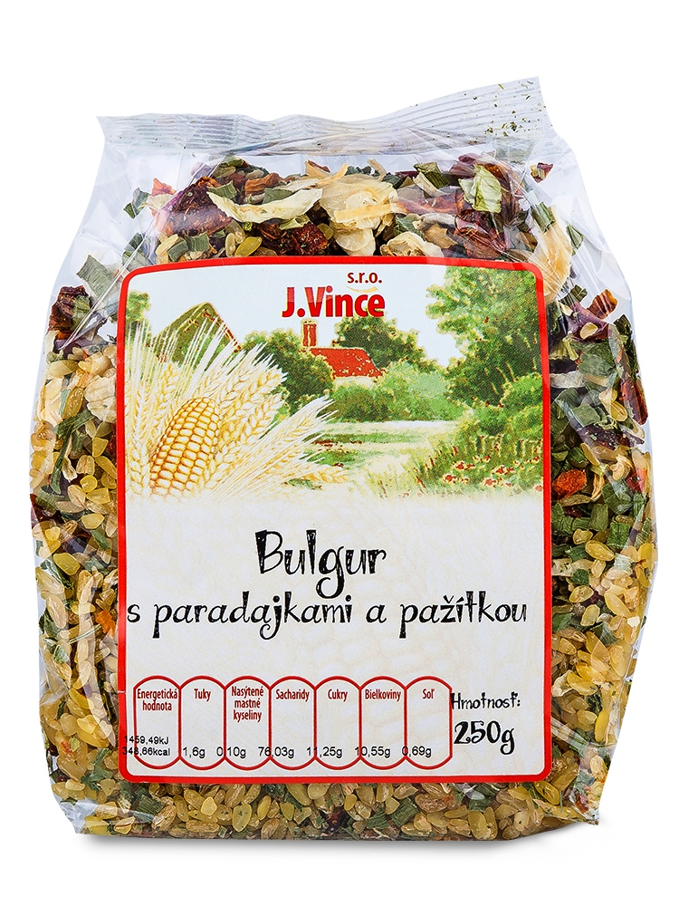 J. VINCE Bulgur s paradajkami a pažítkou 250g