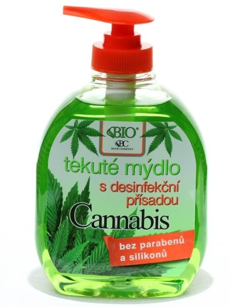Bione Cosmetics - Tekuté mydlo Cannabis s dezinfekčnou prísadou 300ml