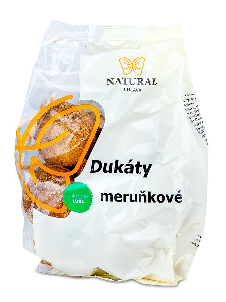 NATURAL JIHLAVA Dukáty - ovsené marhuľové sušienky 200g