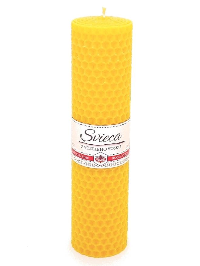 Sviečka včelí vosk žltá 160mm/40mm